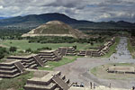 Teotihuacan - Pyramid of the sun and avenue of the deads