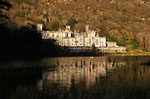 Kylemore - Kylemore abbey at sunset