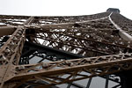 Paris - Low angle view of Eiffel tower
