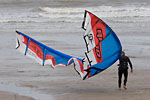 Le Havre - Kitesurfer and his wing on the beach
