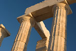 Cap Sounion - Poseidon temple detail at sunset