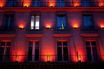"Paris - Red Christmas lighting ""rue de Rivoli"""