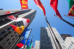 New-York City - Rockefeller Plaza's flags