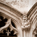 Oxford - The Jolly Monk Statue at Christ Church College