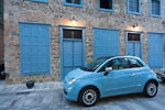Nafplio - Blue car and shutters